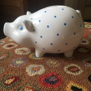Tiffany blue dot piggy bank